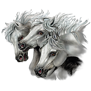 3 HORSE HEADS