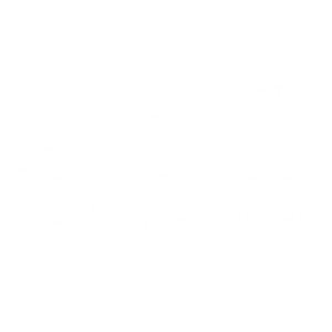 PEACE LOVE VOLLEYBALL WHITE