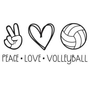PEACE LOVE VOLLEYBALL BLACK