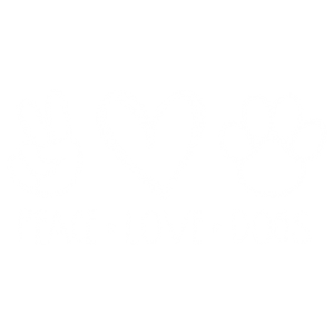 PEACE LOVE DOGS WHITE