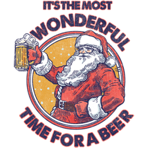TIME FOR A BEER SANTA