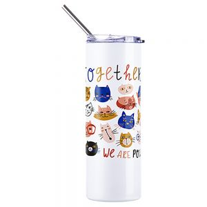 20 OZ UV COLOR CHANGING SKINNY TUMBLER -WHITE TO BLUE