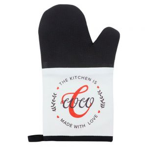 CANVAS OVEN MITT WITH RUBBER