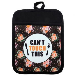 CANVAS POT HOLDER WITH RUBBER