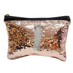 SEQUIN HANDBAG -ROSE GOLD