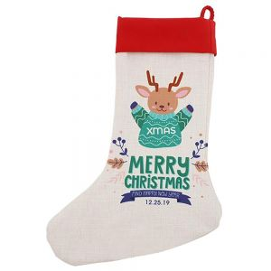 CHRISTMAS STOCKING - LINEN