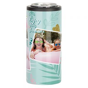 12 oz SKINNY CAN COOLER - WHITE