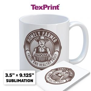 TEXPRINT R  MUG PAPER 3.5x9.125-- PACK OF 110 SHEETS