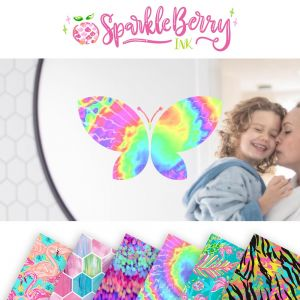 "Sparkleberry Ink Adhesive Vinyl By The Sheet 12"" x 12"""