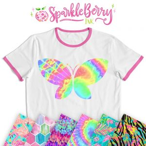 "Sparkleberry Ink Heat Transfer Vinyl by the Sheet 12""x12"""